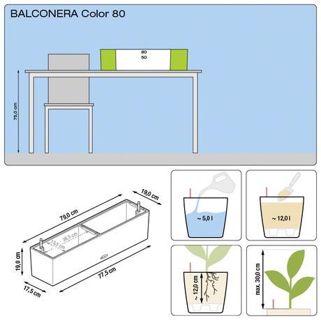 Samozavlažovací kvetináč Balconera 80 Lechuza,