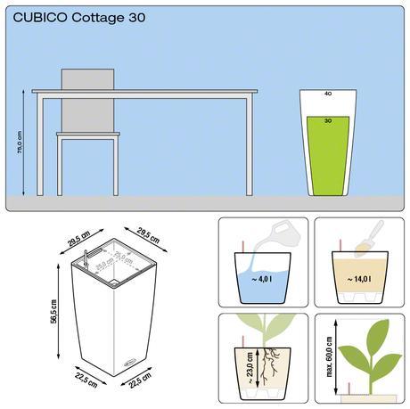 Samozavlažovací kvetináč Cubico 30 Lechuza,