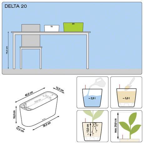 Samozavlažovací kvetináč Delta 20 Lechuza,
