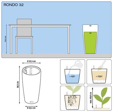 Samozavlažovací kvetináč Rondo 32 Lechuza,