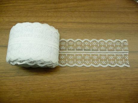 Krajka bílá - šíře 4,5cm, délka 9-54m ,