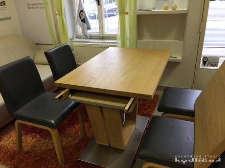Stůl a židle Wössner Wave - z výstavky,