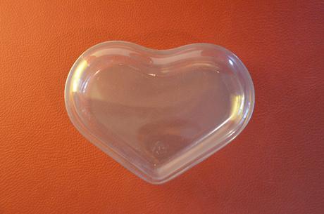 Krabička srdce průhledné,