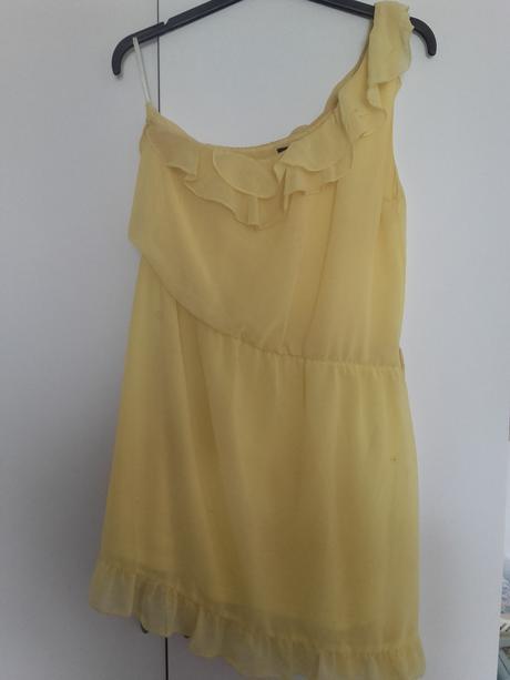 letní šaty s volánkem, 36