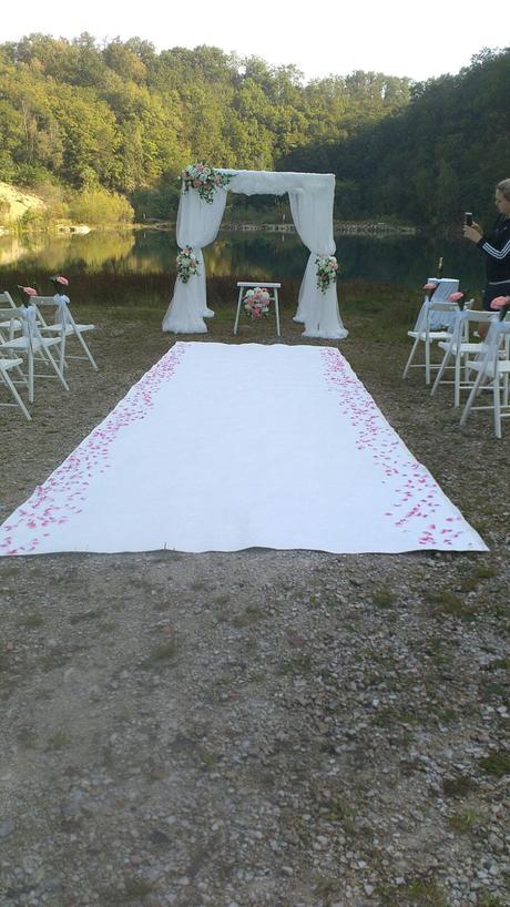 Svatební altán na obřad,
