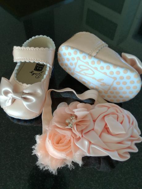 Dievčenské topánočky 0-6mesiacov,