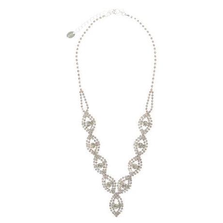 Crystal Leaf Y náhrdelník,