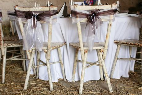 Svatební dekorace, čokoládově hnědá - Komplet,