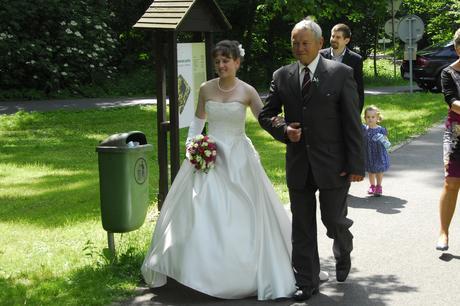 Bílé krémové svatební šaty, vel. 36, 36