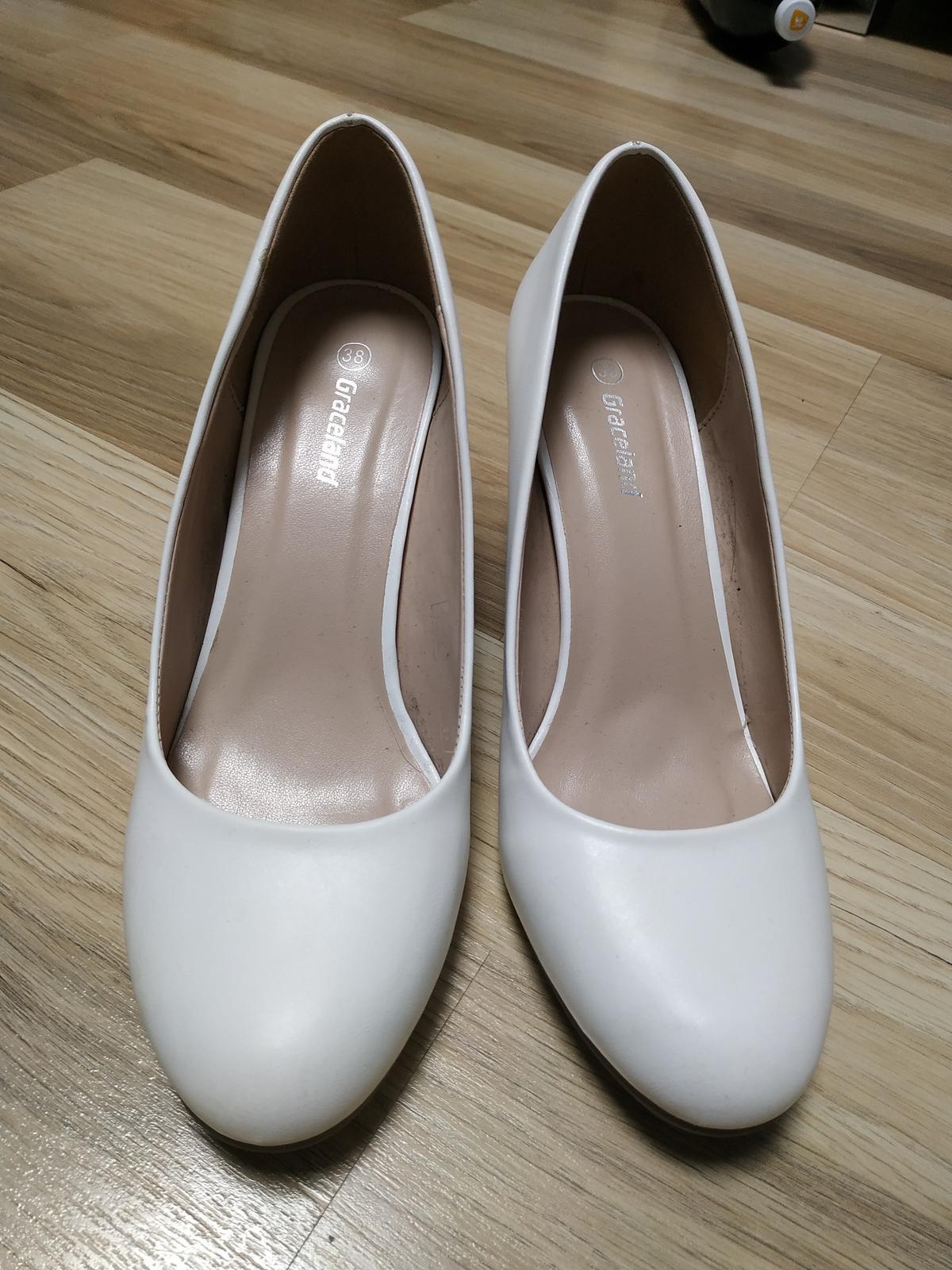 349f0e2c22 Biele svadobné lodičky veľ. 38