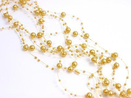 perličková girlanda - zlatá,