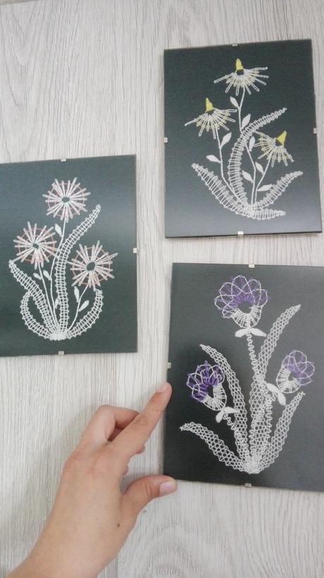 sada obrazkov kvety,