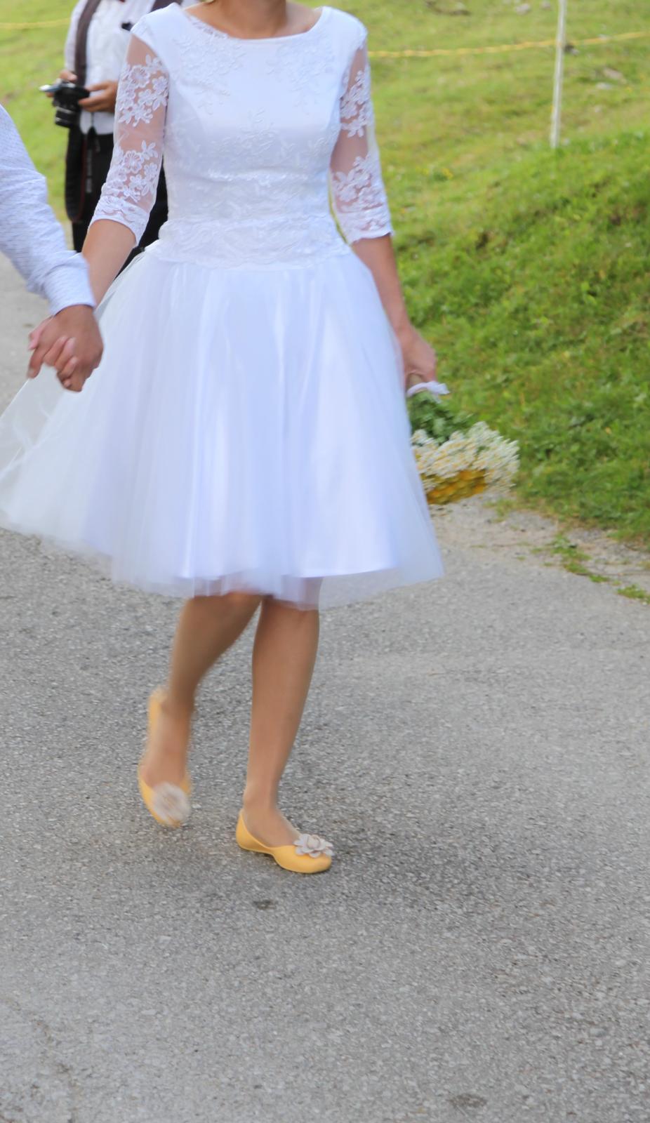 3374ed2d9888 Nadčasové krátke svadobné šaty