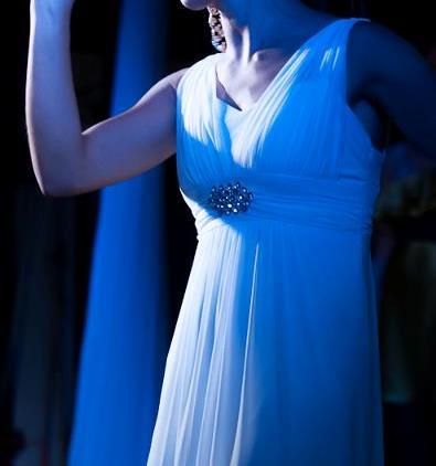 šaty biele plesové, S