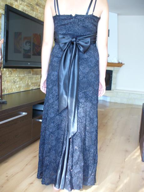 čierne čipkové šaty veľ. L-XL, XL
