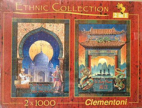 2ks Puzzle obrazy Orient,