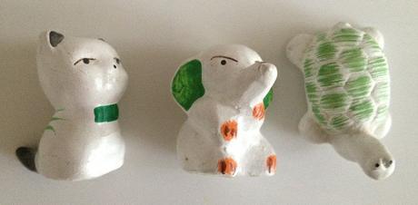 3 keramické zvieratká,