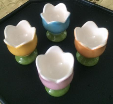 Sada 4 pohárikov na vajíčka,