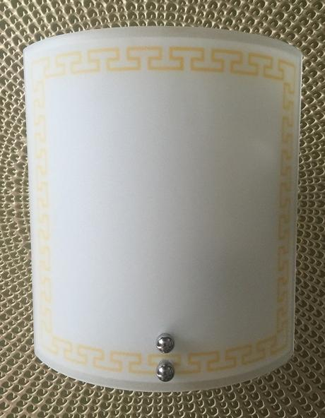 Sklenené bočné svietidlo na stenu,