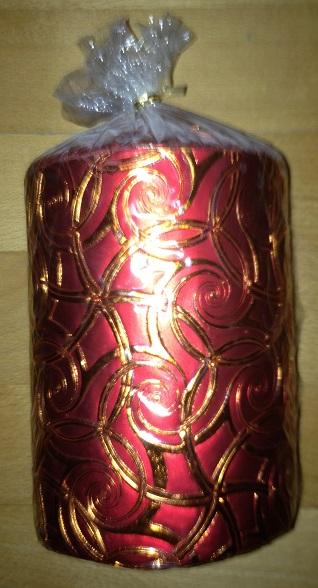 Veľká sviečka s ornamentami,