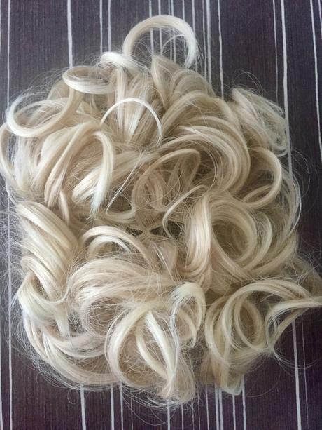 Romantický příčesek - drdol - blond,