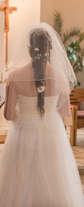 Tylové svatební šaty, vel. 42, 42