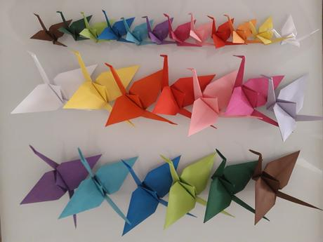 Origami jeřábi dekorace dle přání,
