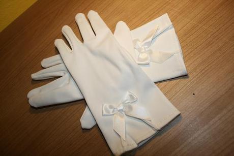 Saténové rukavičky pre družičku, 134