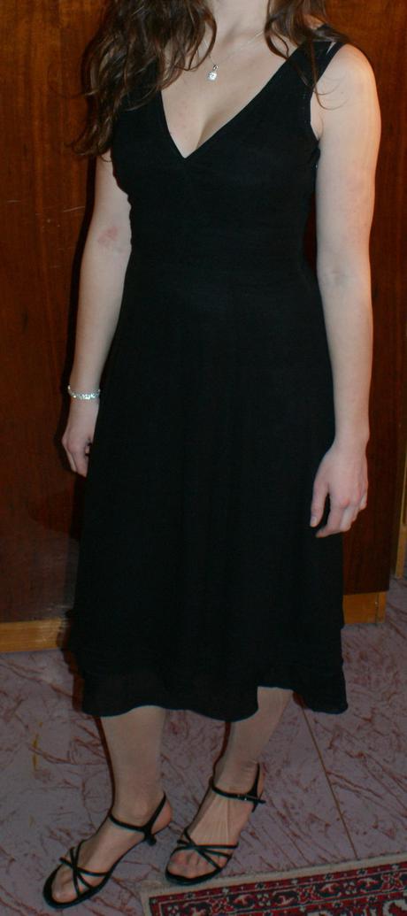 čierne značkové šaty vero moda č.36, 36