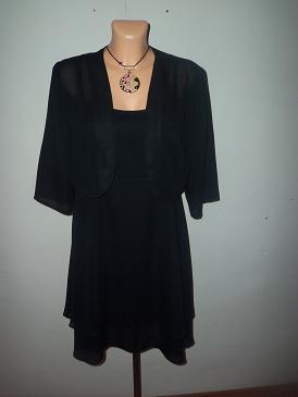 elegantné šaty+bolero, S