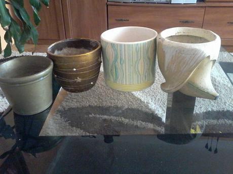 4ks črepníky keramika,