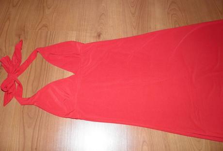 červené šaty pre 34/36 veľkosť , 36