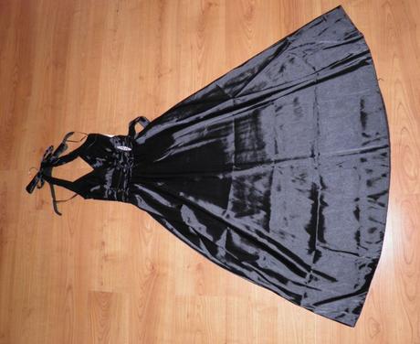 Čierne spoločenské šaty, aj pre tehu, uni veľkosť, S
