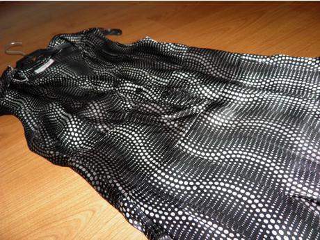 čiernobiele šaty z Orsay, XS
