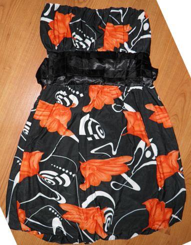kvietkované šaty M-L, M