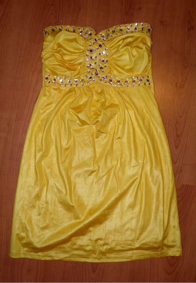 Sexi žlté šaty, 36