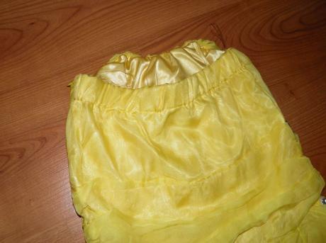 úžasné spoločenské žlté šaty s vlečkou, 40