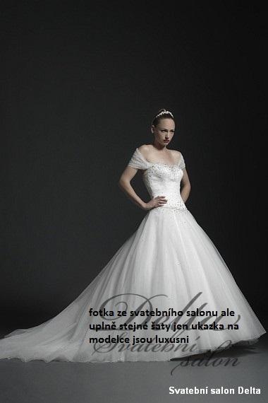 Svatební šaty s vlečkou Sincerity, 38