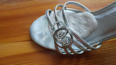 Strieborne sandalky, 37