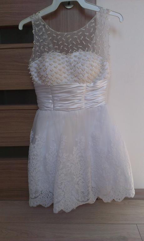svadobné šaty krátke, 38