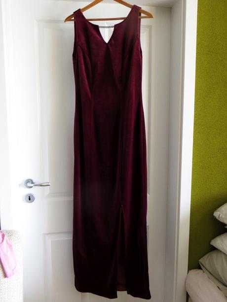 Spoločenské šaty zamatové bordové, 40