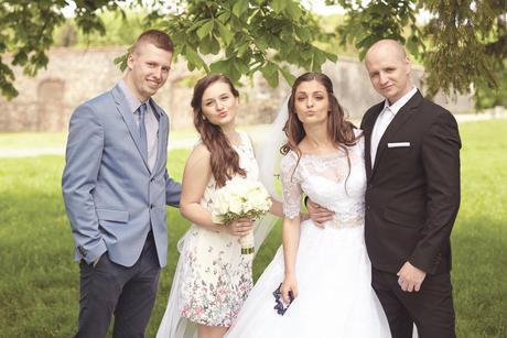 Šaty +  svadobne topanky, 36