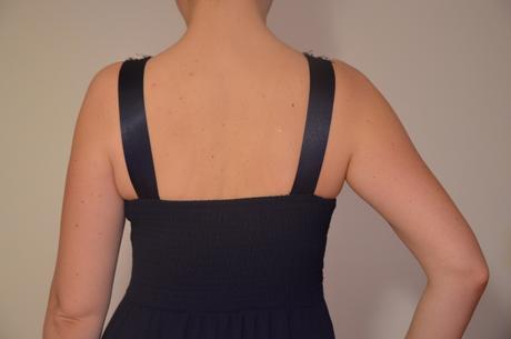 dlhé tmavomodré šaty aj pre tehulky, L