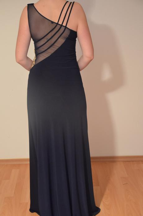 tmavomodré večerné šaty, 40