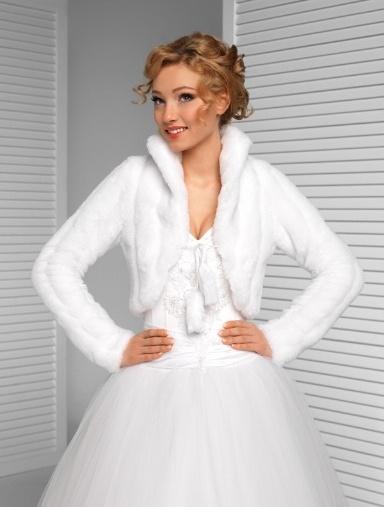 Svatební kožíšek vel. 40,
