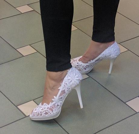 Krajkové boty - nepoužité, 40