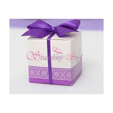 Krabička na darčeky fialová,