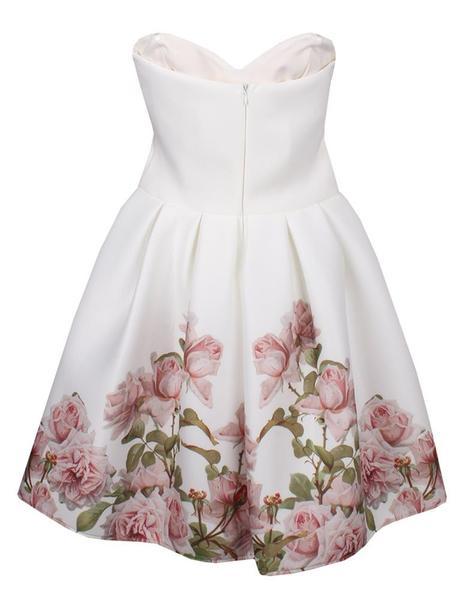 Spoločenské šaty s kvetmi, S