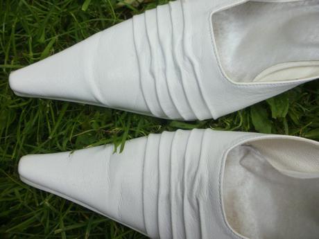 biele svadobné topánky v.38,5, 38