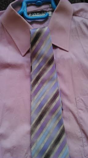 Kvalitná pánska košela kr. rukav + kravata, L